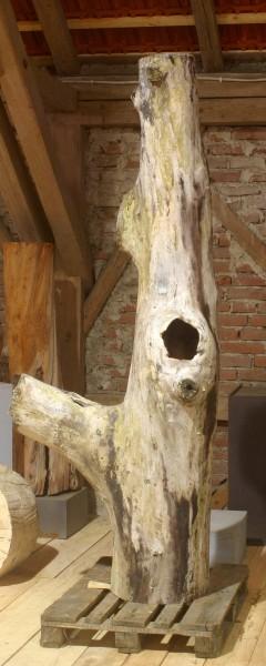 """Holzskulptur """"Obstgarten, Baumform mit Ast"""" / SKUL 090-38"""