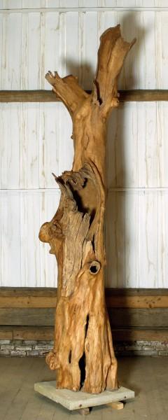 """Holzskulptur """"Obstgarten, aufgerissene Gestalt"""" / SKUL 090-50"""