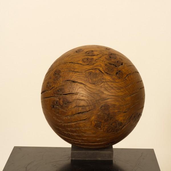 Holzkugel aus Eichenmaser P 055