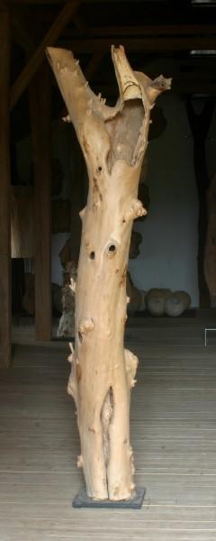 """Holzskulptur """"Obstgarten, schlanke, sich reckende Form"""" / SKUL 090-37"""