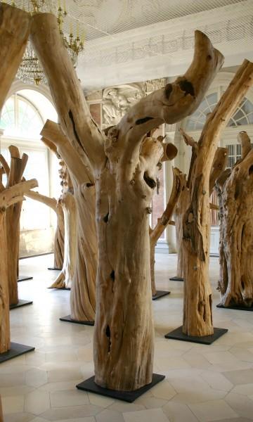 """Holzskulptur """"Obstgarten, gegabelte Form"""" / SKUL 090-05"""