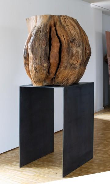 """Holz-Metall-Skulptur """"Büste auf Sockel"""" SKUL 171-2"""