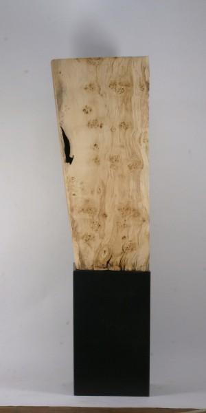 "Holz-Metall Skulptur ""Kubischer Körper,hohl"" / SKUL 177"