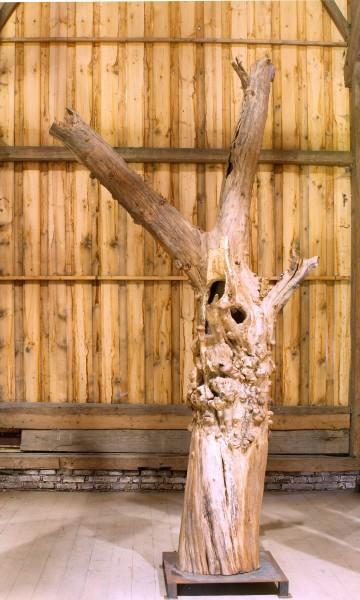 """Holzskulptur """"Obstgarten, auseinander strebende Form"""" / SKUL 090-54"""