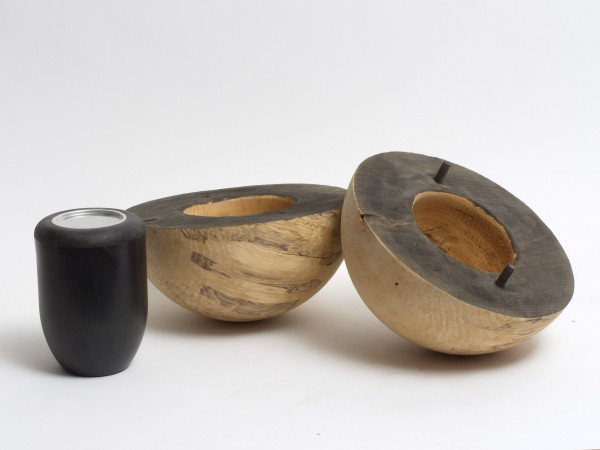Holzurne aus Erle in Kugelform K 124