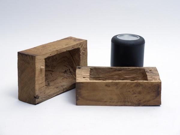 Schmuckurne zylindrische Form aus Eichenholz Zy 108