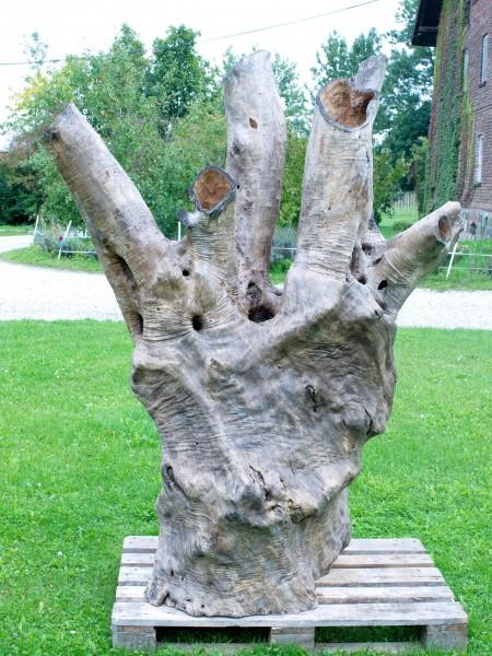 """Holzskulptur """"Olivenhain II"""" / SKUL 123-2"""
