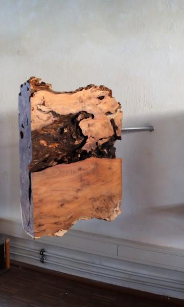 "Holzskulptur ""Quadratische, schwebende Form"" SKUL 226-1"