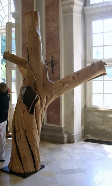 """Holzskulptur """"Obstgarten, große, knorrige Gestalt"""" / SKUL 090-17"""