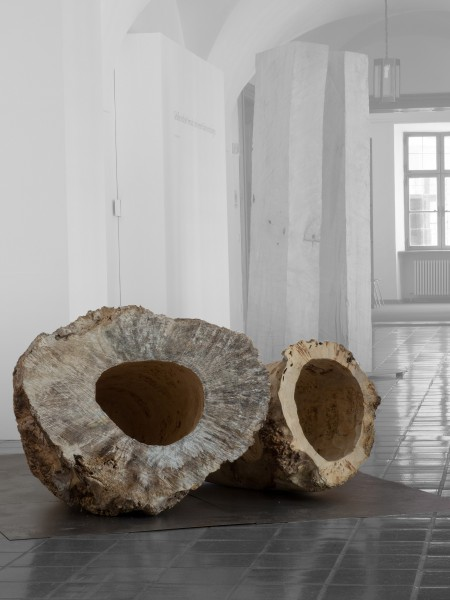 """Holzskulptur """"Zwei liegende Formen"""" SKUL 181"""